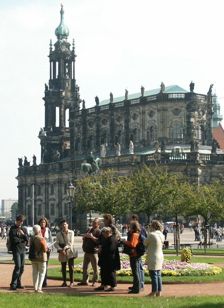 König Johann und der Theaterplatz zu Dresden
